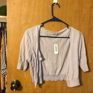 Women's Old Navy NWT Shrug. Light Purple. Medium